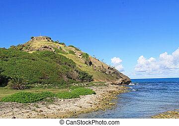 Old Fort Barrington in St. John?s Harbor Antigua
