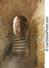 Old Fort Barrington Stairway in St. John?s Harbor Antigua