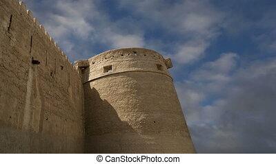Old Fort. Dubai, United Arab Emirates (UAE). This castle...