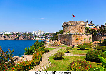 Old fort in Antalya, Turkey