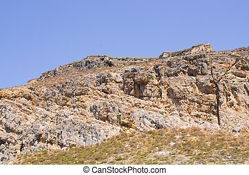 Old fort on Gramvousa island, Crete, Greece