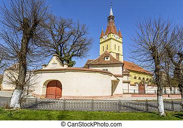Old fortified Church in Cristian, Brasov, Romania