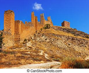 Old fortress wall. Albarracin. Aragon