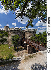 Old fortress wall and nature - Belgrade old fortress wall ...
