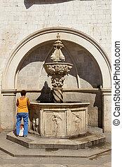 Old fountain - Dubrovnik, Croatia.