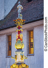 Old fountain in Lucerne