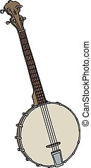 old four strings banjo