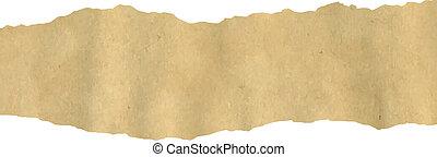 Old Fragmentary Paper Border, Vector Illustration