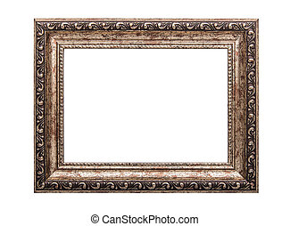 Old frame isolated on white.