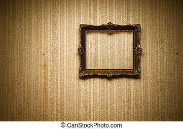 Old frame on retro wall