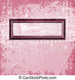 Old frame on the abstract pink background
