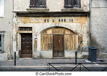 Old french boulangerie in small city