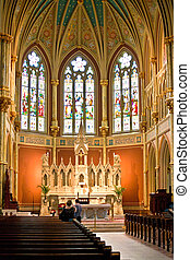 old french catholic church Saint John the baptist in ...