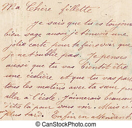 old french handwriting - handwriting in french on old letter