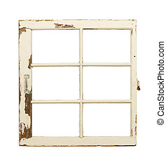 Old French Pane Window - Rustic Old Window with Handle...