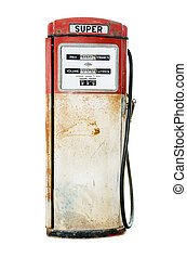 Old fuel pump on white background