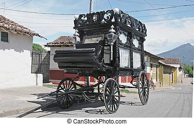 wagon - old funeral wagon granada