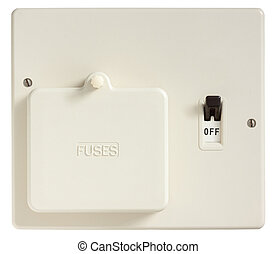 Old Fuse Box - Old Fuse box switched off isolated on white ...