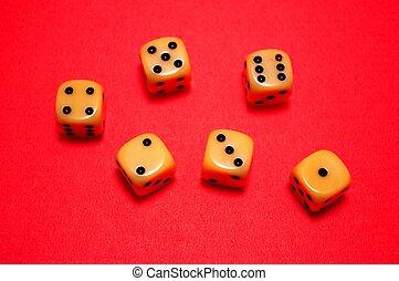Old Gambling Dice