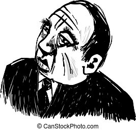 Old Gangster - Drawing Illustration of Old Gangster...