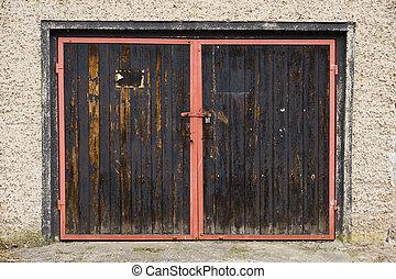 Old garage door in east germany