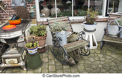 old garden in holland