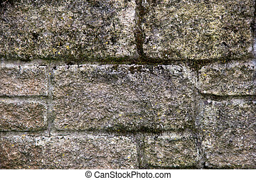 Old Garden Stone Wall Detail