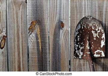 Old Gardening Shovel
