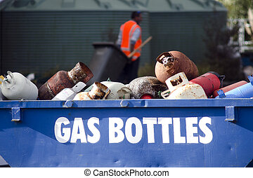 Old gas cylinders