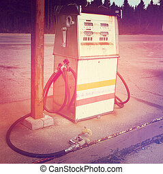 Old gas pump - With Instagram effect - With Instagram effect