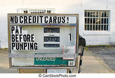 Old Gas Pumps - Old gas pumps with old gas prices.