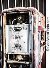 Old Gas Tank - An old vintage gas station tank used to fill...
