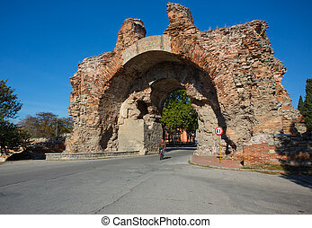 Old gate in Bulgaria - Old gate in Hissar town in Bulgaria