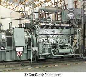 Old Generators - emergency generators. Diesel engine....