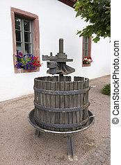 Old German disused Wine Press