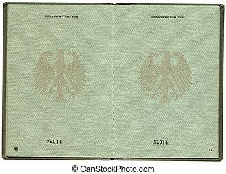 Old Germany Aliens Passport
