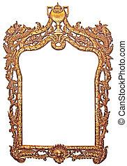 Old gilded frame