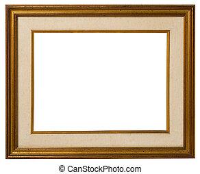 Old gilt wood frame.