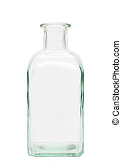 glass bottle - old glass bottle isolated on a white...