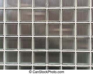 old glass brick wall background