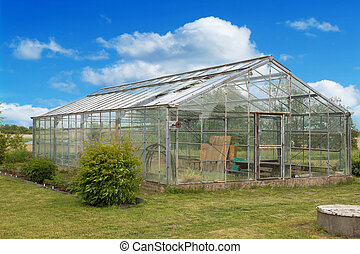 Old glass greenhouse