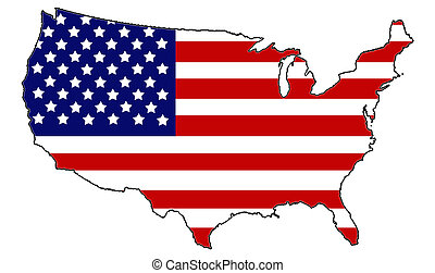 United States of America wrapped in old glory.