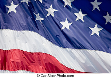 Old Glory - A tight shot of the American flag