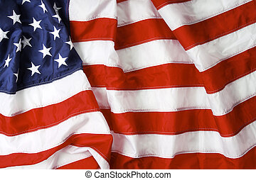 old glory - American flag background - shot and lit in...