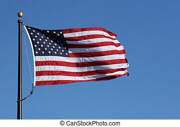 Old Glory - American Flag waving in the wind