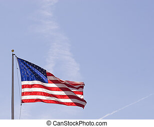 Old Glory - An American flag backlit by the sun