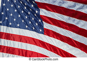 Old Glory - Close-up view of a new U.S. flag.