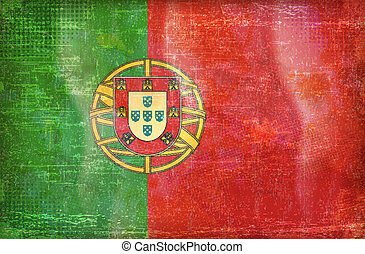 Old Glory Collection Portugal flag - Old grunge flag of...