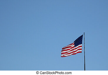 Old GLory Flag - Old glory flag flying