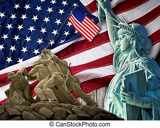 Old Glory Flag. - The American way with liberty for all.
